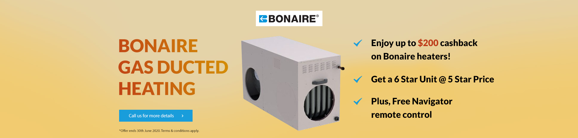 BONAIRE GAS DUCTED HEATING