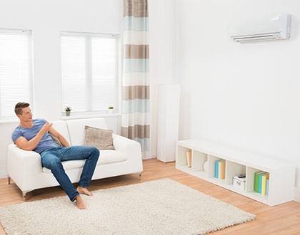 Split Systems Heating suited for homes where you spend most of your time in one or two areas