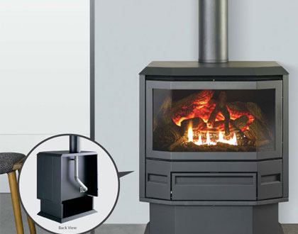 Dale Air Melbourne stocks FSP 600 free standing top flued heater