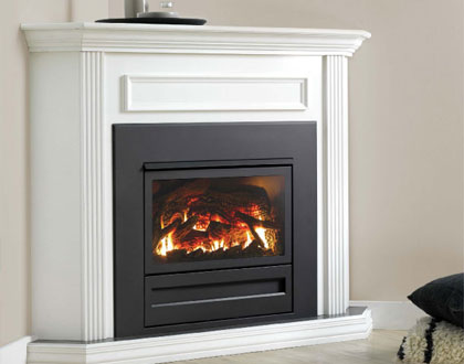 Dale Air Melbourne stocks IS 700 insert flat front with optional corner mantel