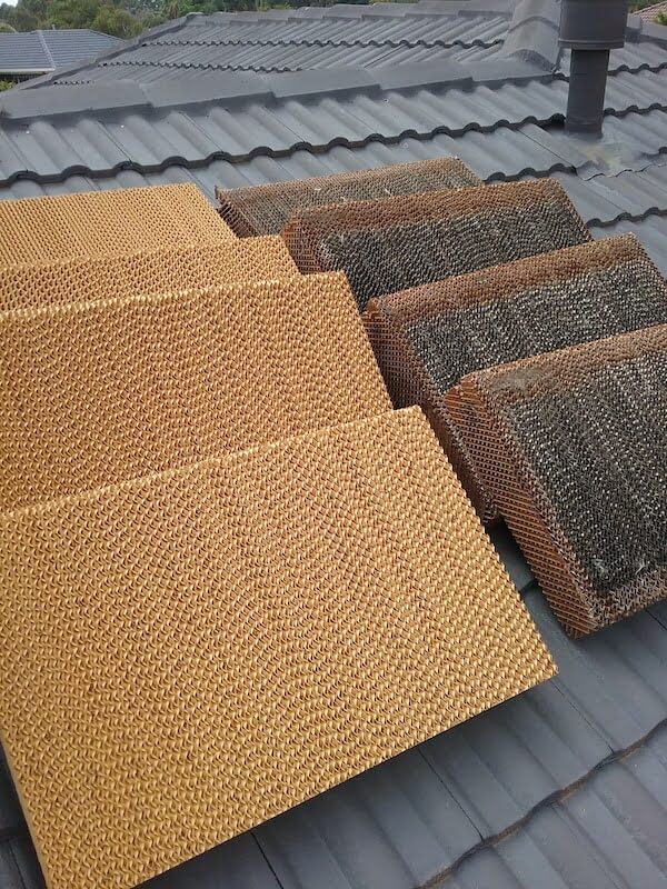 New pads for evaporative cooling unit