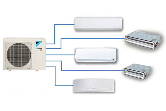 Daikin Multi Split Air Conditioning Graphic