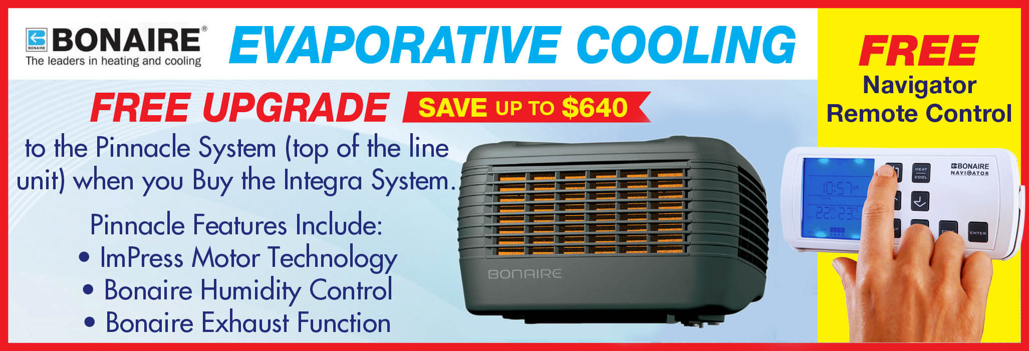 Bonaire Evaporative Cooling Replacement Offer - Spring 2021