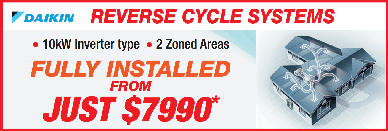 Daikin Ducted Reverse Cycle Special Offer
