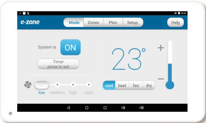 e-zone wall mounted android tablet